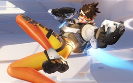 Preview wallpaper Overwatch, tracer, PC game