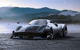 Preview wallpaper Pagani Huayra concept tuning black supercar
