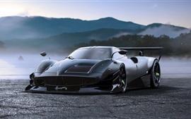 Pagani Huayra concepto de sintonía superdeportivo negro