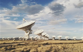 Preview wallpaper Radio Telescope array, New Mexico, United States