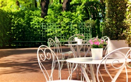 Preview wallpaper Sankt Petersburg, Summer Garden, Russia, rest area, table, chair
