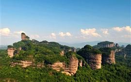 Шаогуань Danxia Гора, китайский пейзаж природа