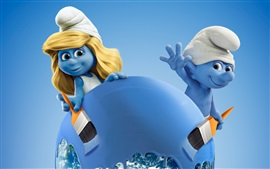 Preview wallpaper Sony cartoon movie 2017, Smurfs: The Lost Village