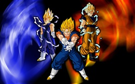 Preview wallpaper Super saiyan, Dragon Ball Z, cartoon anime