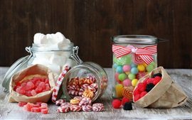 Preview wallpaper Sweet candy, marshmallow, jello, sugar, berries