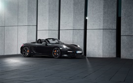 TechArt Porsche Boxster roadster preto vista lateral