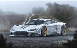 Preview wallpaper Tesla R45 Concept silver supercar