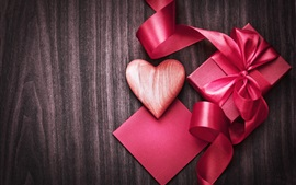 Preview wallpaper Valentine's Day, love hearts, gift, ribbon