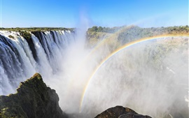 Preview wallpaper Victoria Waterfalls, Africa, rainbow, mist