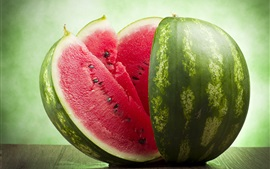 Watermelon, slices, summer delicious fruit