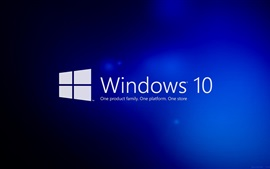Preview wallpaper Windows 10, blue background