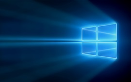 Preview wallpaper Windows 10, blue light