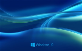 Preview wallpaper Windows 10 system, abstract blue background
