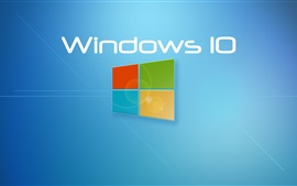 Windows 10 системы, синий фон