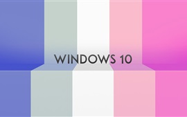 Preview wallpaper Windows 10 system, colorful stripes background