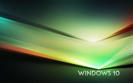 Preview wallpaper Windows 10 theme, green abstract background