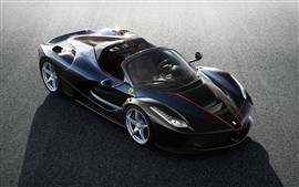 2017 Ferrari LaFerrari Spider black supercar top view
