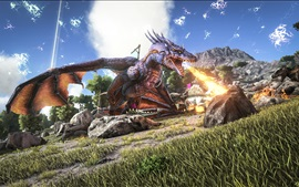 Preview wallpaper ARK: Survival Evolved, fire-breathing dragon