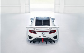 Acura NSX GT3 supercar back view