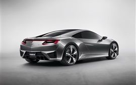 Preview wallpaper Acura NSX concept car back view