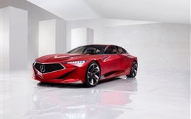 Preview wallpaper Acura Precision Concept red car