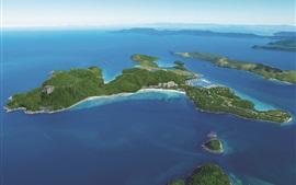 Антенна для просмотра Остров Гамильтон, синее море, Австралия