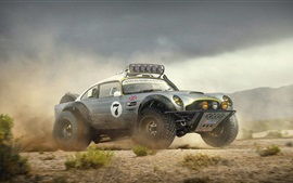 Preview wallpaper Aston Martin DB5 off road car, Dakar Race