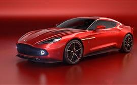 Aston Martin Vanquish Zagato красный суперкар 2016