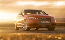 Audi A3 Sportback е-Tron красный автомобиль вид спереди