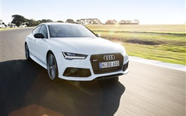 Preview wallpaper Audi RS7 white car speed