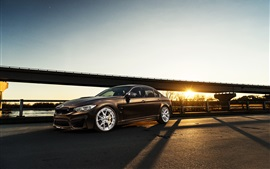 Preview wallpaper BMW M3 F80 brown car at sunset