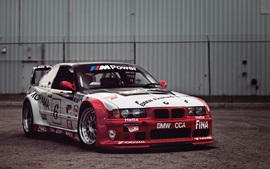 Preview wallpaper BMW race car, white and red