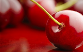 Preview wallpaper Cherry macro photography, red, fruits