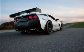 Preview wallpaper Chevrolet Corvette Z06X supercar rear view