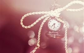 Reloj, números, cuerda, bokeh