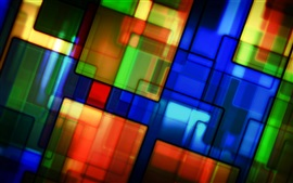 Preview wallpaper Colorful pattern, texture, stained glass, abstract pictures