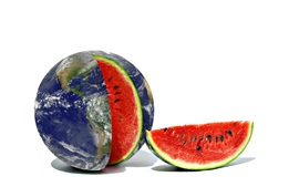 Preview wallpaper Creative pictures, Earth, watermelon
