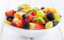 Aperçu fond d'écran Delicious dessert, salade de fruits