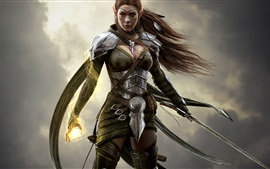Preview wallpaper Elder Scrolls Online, wizard girl