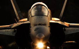 Preview wallpaper F-18A Hornet aircraft front view