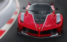 Preview wallpaper Ferrari FXX K red supercar front view