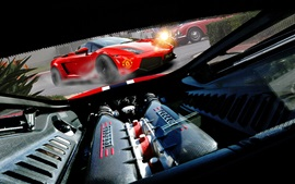 Preview wallpaper Ferrari supercar engine close-up