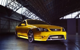 Preview wallpaper Ford Falcon FPV F6 yellow supercar