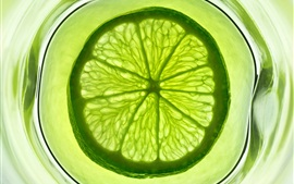 Preview wallpaper Green lime citrus, fruit slice, frozen