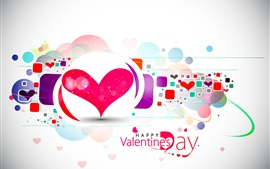 Preview wallpaper Happy Valentine's Day, love hearts, vector, abstract