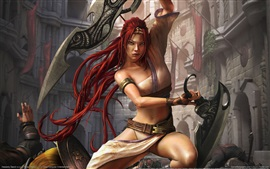 Preview wallpaper Heavenly Sword, red hair girl, warrior, Sony PS4 game