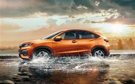 Preview wallpaper Honda XR-V orange SUV car in water