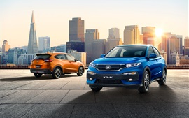 Honda XR-V orange and blue SUV car