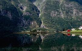 Aperçu fond d'écran Hyefjorden, Gloppen Municipality, le comté de Sogn og Fjordane, Norvège