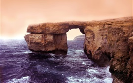 Preview wallpaper Island of Gozo, Malta, Azure window, sea, coast